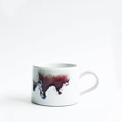 Flambe Glaze Mug-Violet Red Splash
