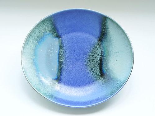 Flambe Glaze Serving Plate-Blue Ravine (L)