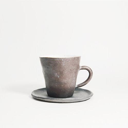 Hand pinched Espresso Set - Dark Coco
