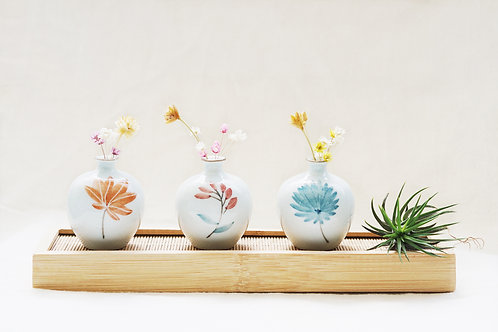 Botanical Mini Vase Set of 3