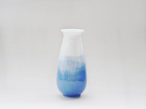 Aqua Blue Dyed Porcelain Vase (a)