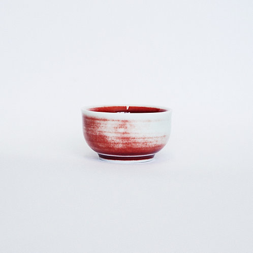 Flambe Glaze Tea Cup- Lavender Fog