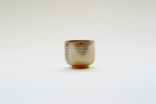 Wood-Fired Ceramic Squarish Tea Cup
