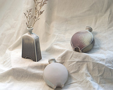 Rustic Flask Vases