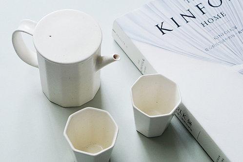 Minimalistic High White Tea Set for 2