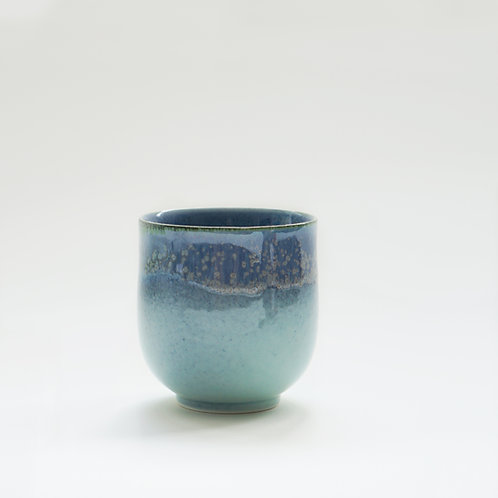 Flambe Glaze Cup-Sea Foam Blue