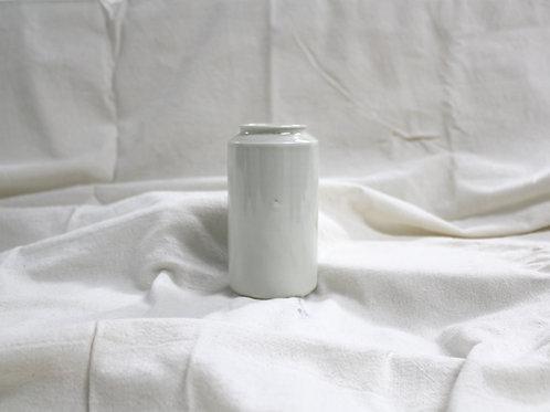 Vintage Short Vase - High White
