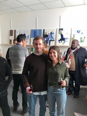 Artist Alejandro M. Parisi and Natalia Correa Founder Jaguar Arte