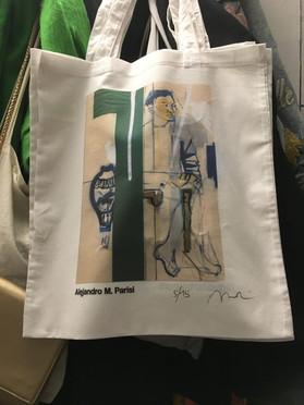 Tote bag Alejandro M. Parisi in collaboration with Jaguar Arte