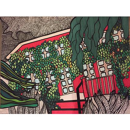 Maison rouge 3, Jacinthe Cappello