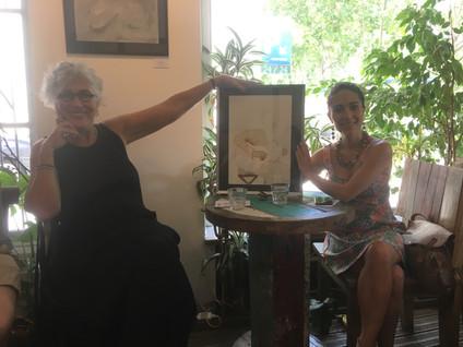 Lica Cecato and Christina Chirouze Montenegro at La Caféothèque