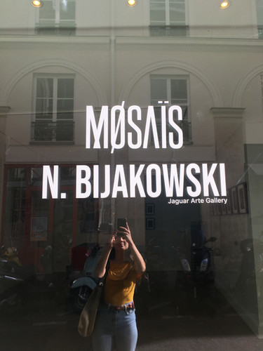 Nicolas Bijakowski art exhibition in Paris with Jaguar Arte Gallery in collaboration with Mosais