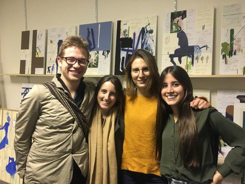Manuel Mockus, Catalina Peña, friend and Natalia Correa Founder Jaguar Arte