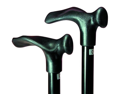 "Comfort Grip Cane Adjustable, Small Handle - Black, Left Handed (30-39"")"