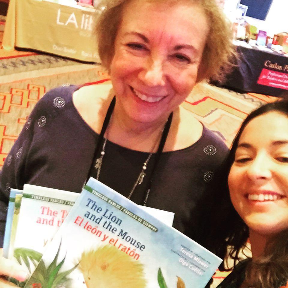 Publisher Teresa Mlawer and Aileen at La Cosecha 2016