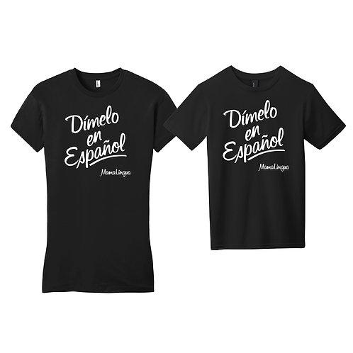 """""""Tell Me in Spanish"""" MamaLingua T-Shirt"""