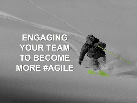 And the final tip to create agile TEAMS (for now)