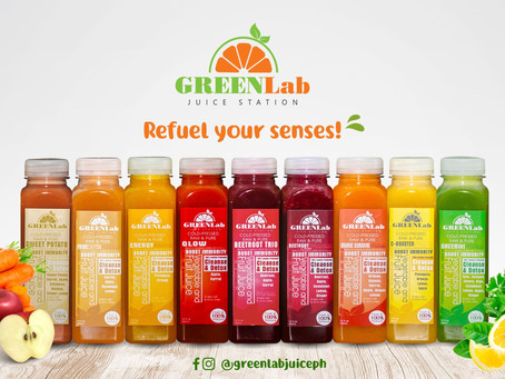 Be healthy with immune booster drinks available at GreenLab Juice Station today