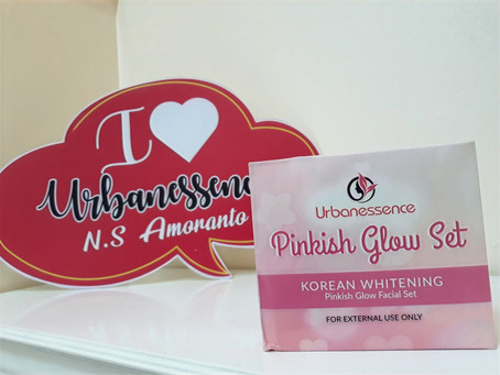 Urbanessence Derma Clinic available products: Pinkish Glow Set, Collagen Snail Face Serum & UA Set
