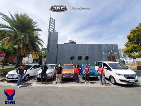 JAC MOTORS PHILIPPINES, Lends Test Drive Vehicles to DSWD for the SAP Implementation