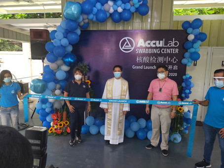AccuLab Opens Their Newest Swabbing Center In Manila