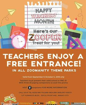 Zoomanity Group: Teacher's Month Promo