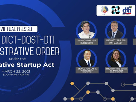 DOST, DICT and DTI collaborates to aid in the growth of the PH innovative startup companies