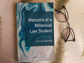 Memoirs of a Millenial Law Student by Mic Villamayor - inspirational book for students reach goals