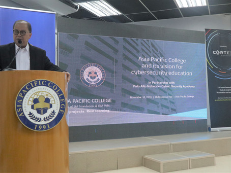 Palo Alto Networks Launches the First Cybersecurity Academy Program at Asia Pacific College