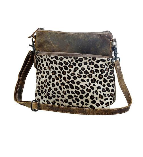 Cheetah & Leather Myra Shoulder Bag