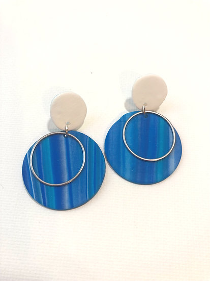 Water Disk Clay Earring