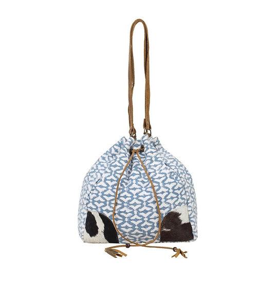 Myra Cowhide Bucket Bag