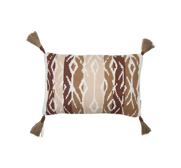 Hand Woven Tassel Pillow