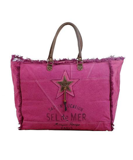 Pink Star Myra Weekender Bag