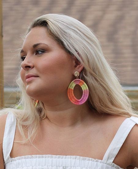 Sherbert Oval Earring