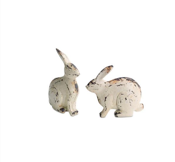 White Resin Rabbit