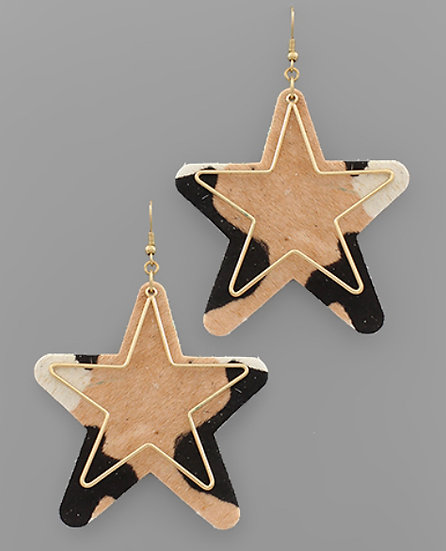 Cowhide Leather Cut-out Earring