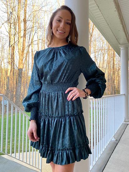 Shimmer Leopard Dress