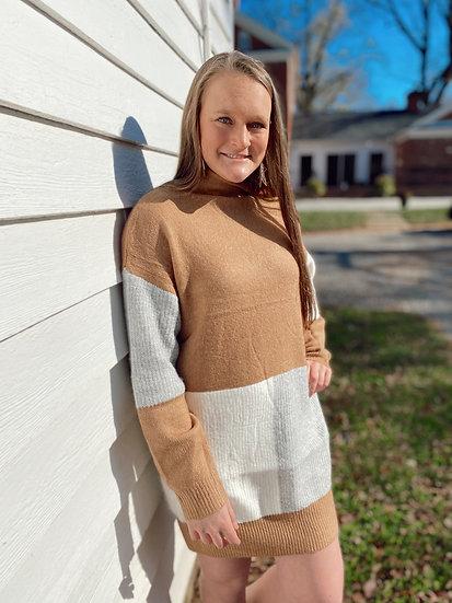 Tri-color Sweater Dress