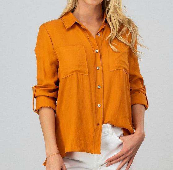 Autumn Linen Button-up