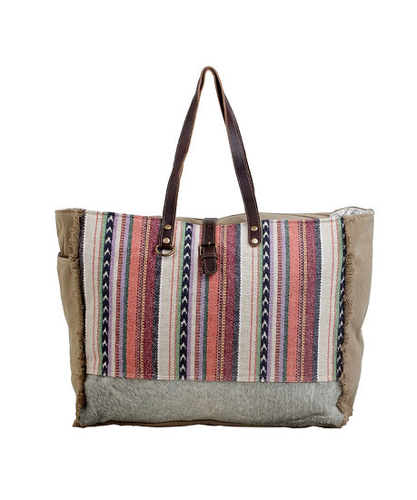 Pastel Stripes Myra Weekender Bag