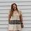 Thumbnail: Cheetah Linen Ruffle Hem Tunic Dress