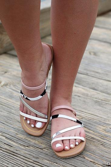 Blush Square Toe Sandals