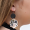 Thumbnail: Watercolor Leopard Leather Earring