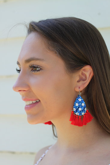 July 4th Sparkle Earring