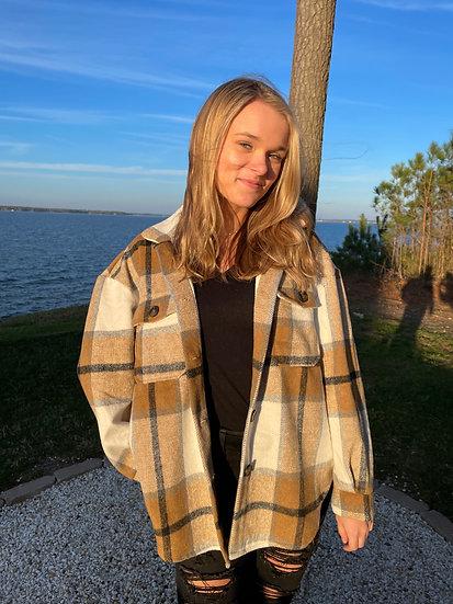 Oversized Flannel Jacket