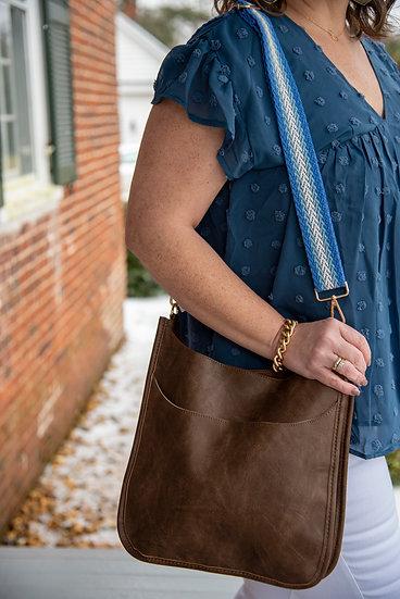 Vegan Faux Leather Interchangeable Strap Shoulder Bags