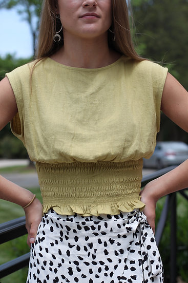 The Darling Woven Cropped Top