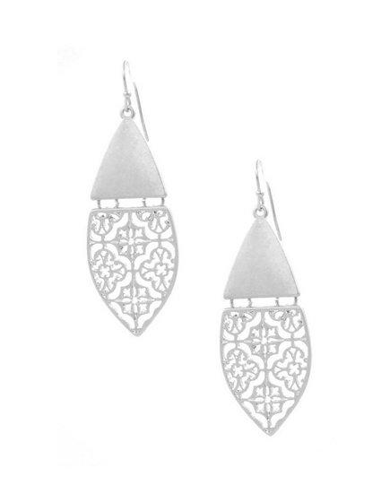 Silver Quatrefoil Earring