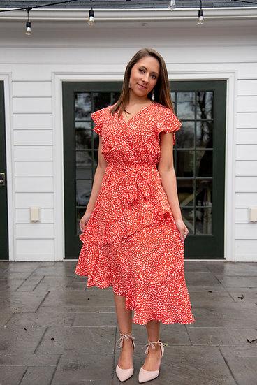 Tangerine Midi Dress